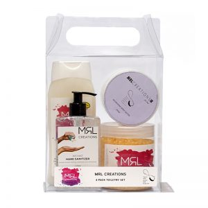 Toiletry Pack with hand sanitizer